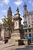Antonio Lopez Statue Placa d'Antonio Lopez Barcelona Spain