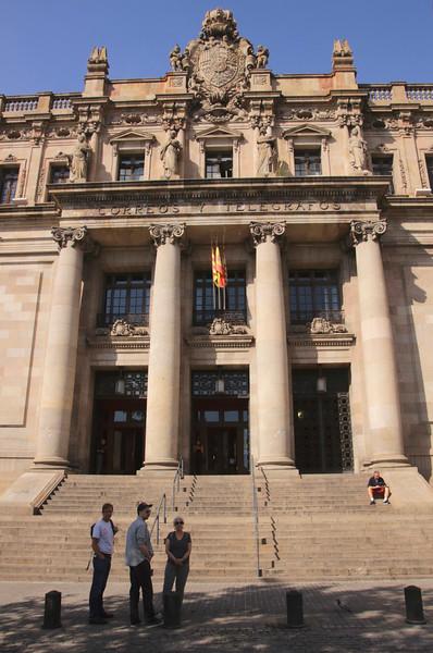 Post and telegraph building La Ribera Barcelona Spain