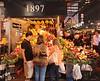 Fruit stall Mercat de la Boqueria interior Barcelona Spain