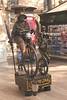 Human Statue La Rambla Barcelona Spain