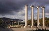 Pillars near Magic Fountain of Montjuic Barcelona Spain