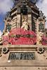 Base of Monument a Colom Barcelona Spain