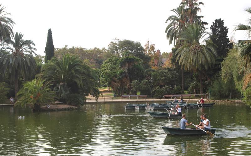 Boating lake in Parc de la Ciutadella Barcelona Spain