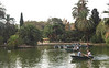 Boating lake in Parc de la Ciutadella Barcelona Spain