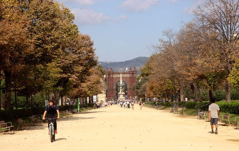Parc de la Ciutadella towards Arc de Triomf Barcelona Spain