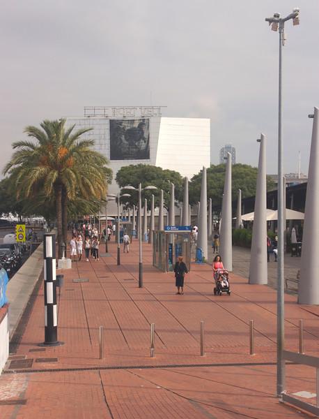 Port Vell towards the IMAX Cinema Barcelona Spain
