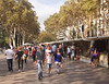 Street Market La Rambla Barcelona Spain October 2017