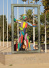 Marc sculpture by Robert Llimos Parc del Port Olimpic Barcelona Spain