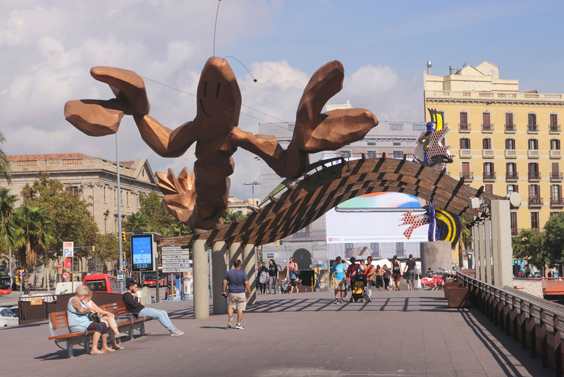 The Lobster sculpture by Mariscal at the Waterfront Barcelona Spain