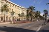View along the Passeig de Colom Barcelona Spain