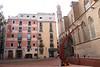 Placa Fossa de les Moreres and Basilica de Santa Maria del Mar Barcelona
