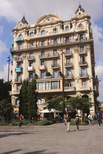 Shops by Placa de Ramon Berenguer el Gran Barcelona Spain