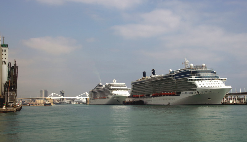 Cruise Liners docked at Barcelona Port October 2017