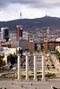 Barcelona cityscape towards Placa d'Espanya