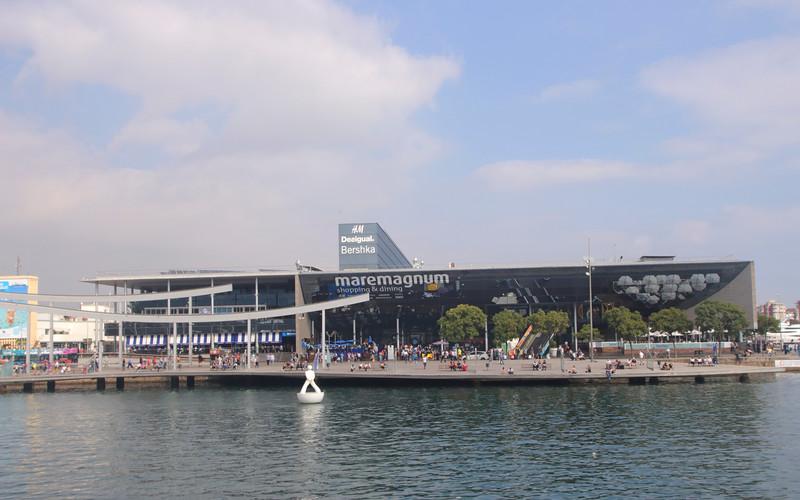 Maremagnum shopping centre Port Vell Barcelona Spain