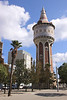 Torre de les Aigues water tower in Parc de la Barceloneta Barcelona Spain