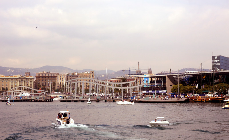 Barcelona waterfront cityscape October 2017