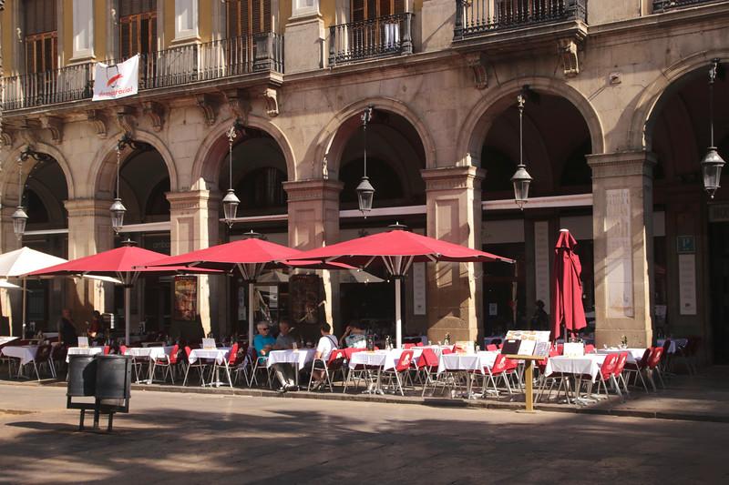 Restaurant at Placa Reial Barcelona Spain Autumn 2017