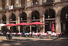 Restaurant at Placa Reial Barcelona Spain Autumn 2017