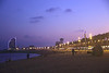 Somorrostro beach Barcelona at night Spain
