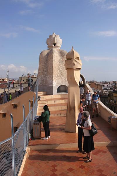 Rooftop of La Pedrera Barcelona Spain