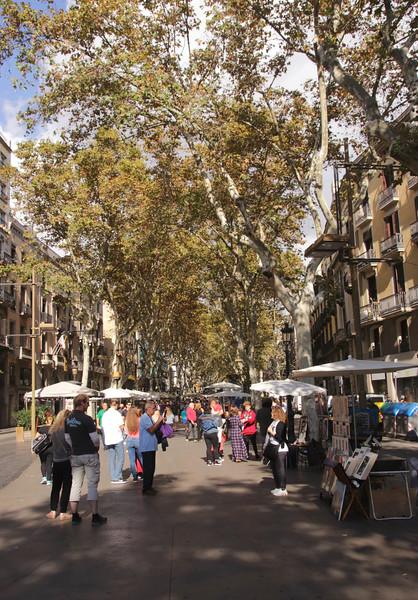 La Rambla Barcelona Spain Autumn 2017