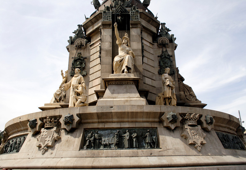 Base of the Monument a Colom Barcelona