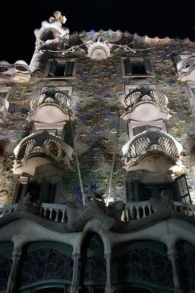 Casa Batllo Barcelona at night