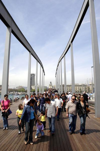 Rambla de Mar footbridge Barcelona