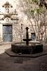 Courtyard in the Barri Gotic Barcelona