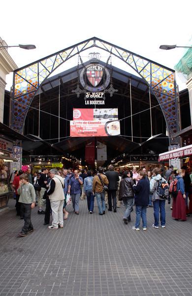 Entrance to the Mercat de la Boqueria Barcelona