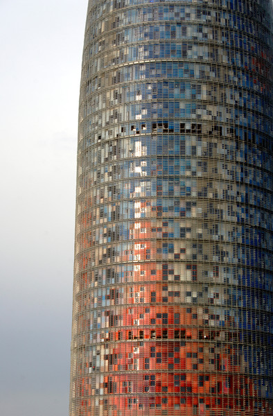 Torre Agbar at the Placa de les Glories Barcelona
