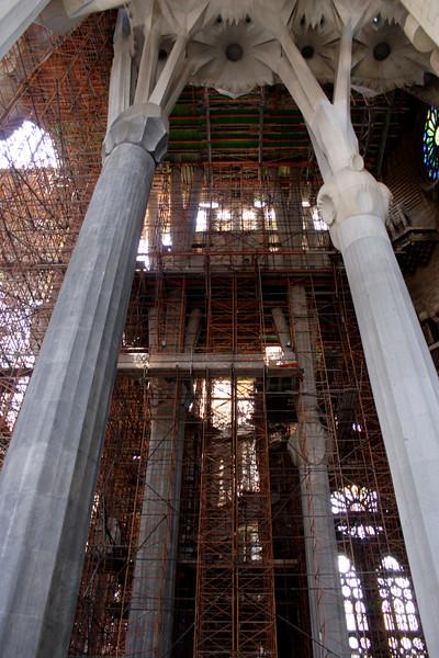 La Sagrada Familia interior Barcelona