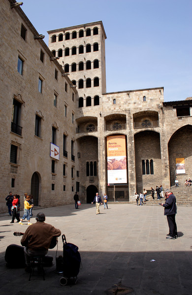 Placa del Rei and the tower of Rei Marti Barcelona