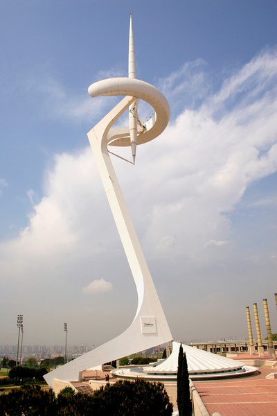 Torre de Calatrava communications tower at Montjuic Barcelona