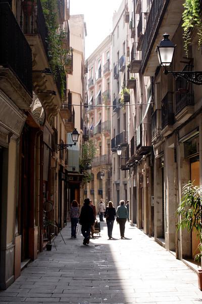 Alley in the Barri Gotic Barcelona