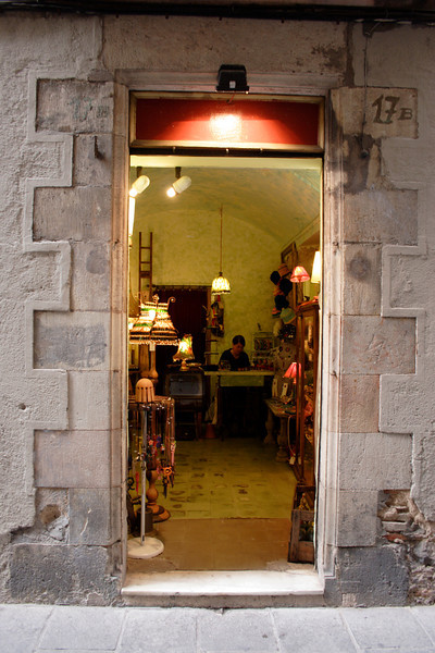 Shop in the Barri Gotic Barcelona