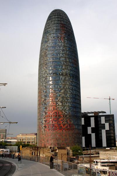 Torre Agbar at the Placa de les Glories Barcelona