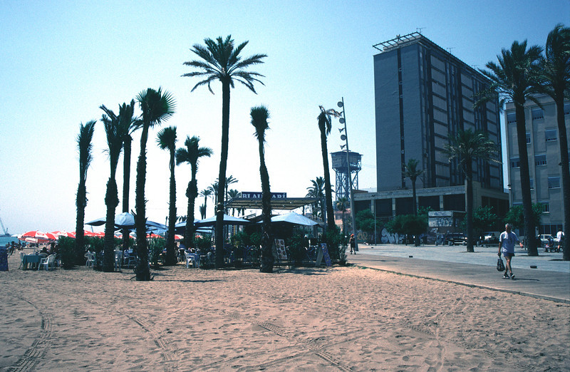 Cafe at Barcelona Beach