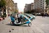 Tricycle taxis in the Placa de la Seu Barcelona