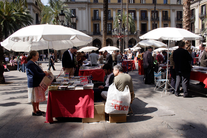 Market at the Placa Reial Barcelona