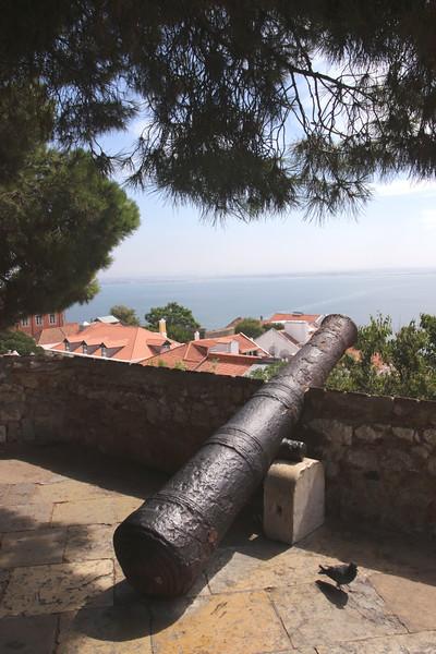 Canon at Observation Terrace Castelo de Sao Jorge Lisbon Portugal