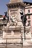 Restoration monument Praca dos Restauradores Lisbon Portugal