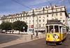 Tram in Praca da Figueira Lisbon Portugal