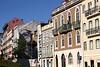 Colourful buildings along Rua de Sao Bento Lisbon Portugal