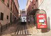 Tram in Elevador da Gloria Bairro Alto District Lisbon Portugal
