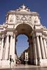 Arco da Rua Augusta Praca do Comercio Lisbon Portugal