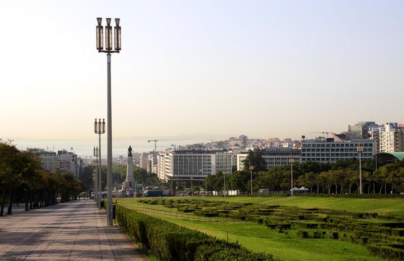 Portugal Lisbon skyline view from Parque Eduardo VII