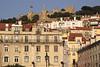 Alfama skyline and Castelo de Sao Jorge Lisbon Portugal