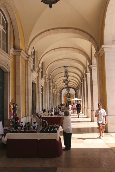 Arcade Praca do Comercio Lisbon Portugal